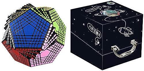 ESPLAY Speed Cube Kohlefaser Aufkleber Glatt 9. Ordnung 3D Puzzle Twist Spezielle Spielzeuge