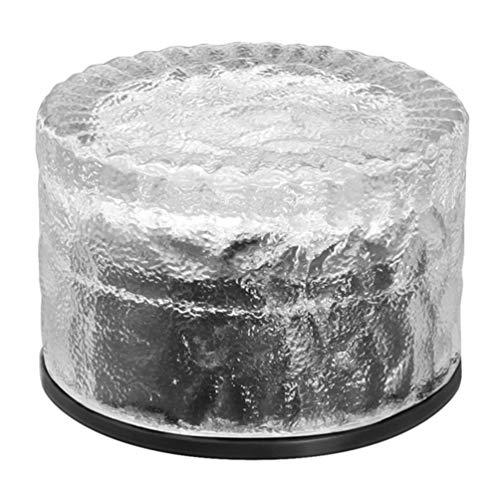 Cxjff Solar-Glas-Ziegel-Lichter Eiswürfel-Lichter Solar-Landschafts-Licht Milchglas-Kristall-Ziegelstein Pool Außendekoration Garten Hof warmes Licht