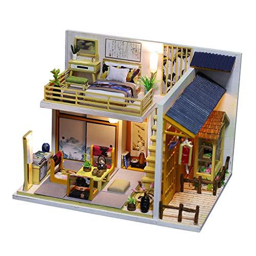 T TOOYFUL Regali di Kit Fai-da-Te in Stile Giapponese Diorama in Miniatura in Legno in Scala 1:24
