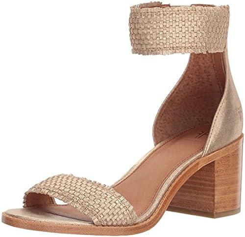 FRYE Damen Weiß Woven Back Zip Sandalen mit Absatz