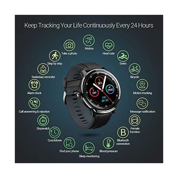 NACATIN SmartWatch, Reloj Inteligente Impermeable IP68, Bluetooth Relojes Deportivos Pantalla t¨¢ctil Completa, Pulsera… 3