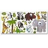 Wandkings Zoo Tiere Wandsticker XL Set