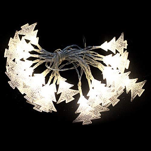 Juguetes Industriales S.A. Luces de Navidad led con 20 Luces Flash cálidas de pinos a Pilas de 220 cm - LOLAhome