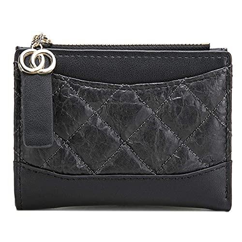 SKYXIU Monedero de cuero multi-ranuras corto titular de la tarjeta monedero monederos cremallera monedero bolsa de tarjeta de crédito