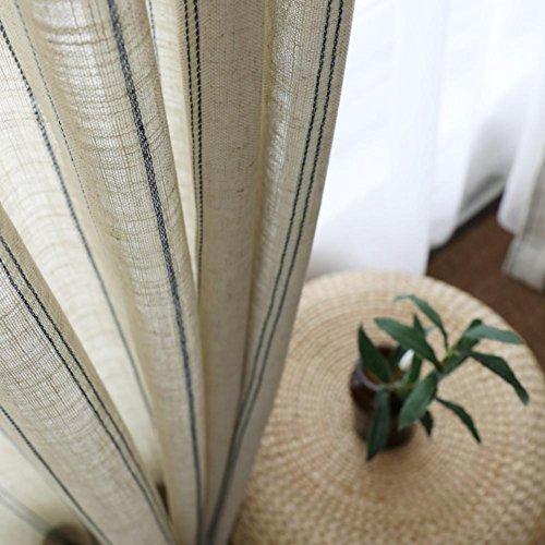 TINE HOME CURTAINS Vorhänge & Drapes Vorhänge, Gardinen Blau gestreift Garn Cannabis Blender für Fenster Behandlungen fertige Produkt Wohnzimmer Tülle Top One Panel, 1Stück (400* 270cm)