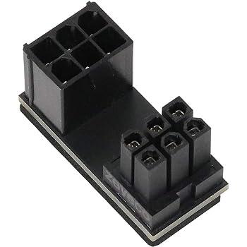 アイネックス PCI Express用電源変換アダプタ C字型 6ピン下ラッチ用 PX-PCIE6CI