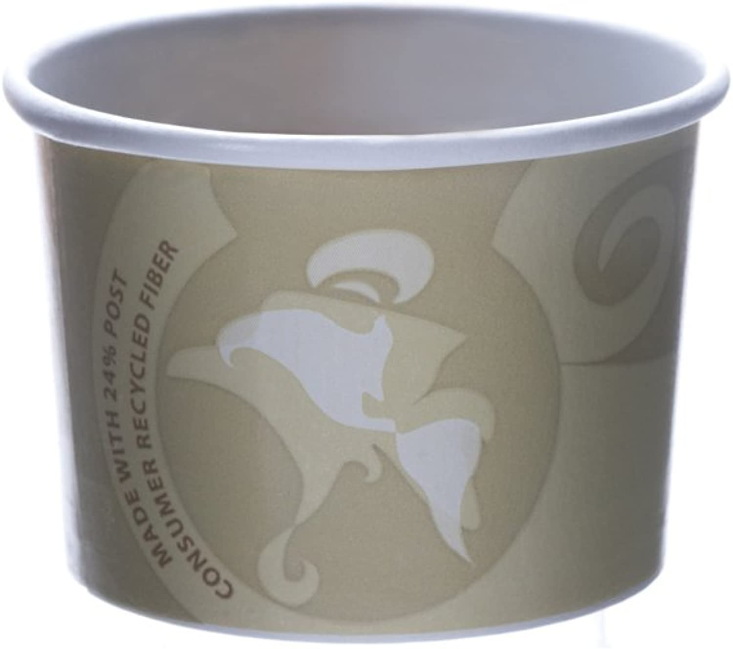 Eco-Products - Evolution World 24% Recycled Content Food Containers - 8oz. Container - EP-BRSC8-EW (Case 1000)