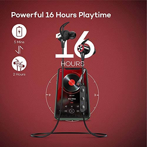 Wireless Headphones, Upgraded Boltune Bluetooth 5.0 aptX HD CVC 8.0 Noise Cancellation IPX7 Waterproof 16Hrs Playtime Earbuds, 3EQ Settings with Magnetic Connection Earphones for Running Built-in Mic 6