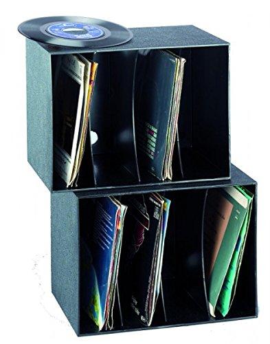 BECO Kunststoff-Box für bis zu 80 Singles, schwarz