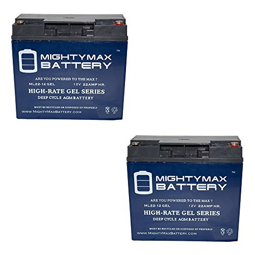 Mighty Max Battery 12V 22AH Gel Battery for Schumacher DSR ProSeries PSJ-2212-2 Pack Brand Product