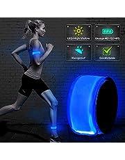 Bseentm 2ED nesil LED Slap bant, patentli Hitzeversiegelte tasarım, Glow in the dark, su/ter dayanıklı, yüksek reflektör baskı, Artistic tasarım, moda güvenlik