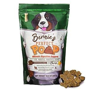 Perfect Poop Digestion & Health Supplement for Dogs: Fiber, Prebiotics, Probiotics, Enzymes Digestive, Hard & Soft Stool, Improved Health