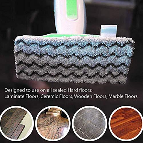 S-TROUBLE 6 Packungen Dirt Grip-Mikrofaserpads als Ersatz für Shark Steam Mop/waschbar/wiederverwendbar kompatibel S1000 / S1000A / S1000C / S1000WM / S1001C