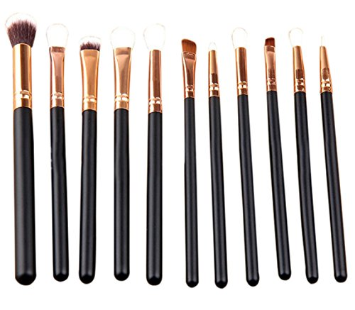 Bigboba œil de 12 pcs Lot de pinceaux de maquillage professionnel outils Pinceaux cosmétiques Eyeliner Fard à paupières Brosse