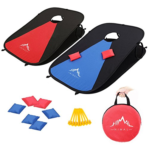 Himal Collapsible Portable Corn Hole Boards With 8 Cornhole Bean Bags  (3 x 2-feet)