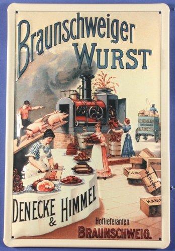 Blechschild Braunschweiger Wurst Braunschweig Schild Nostalgieschild
