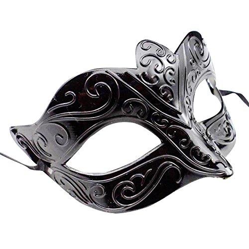thematys Venetianische Venezianische #2 Maskerade Maske Karneval Kostüm Fasching Verkleidung Shades of Grey Herren und Damen Funkelnd Mitternacht Schwarz