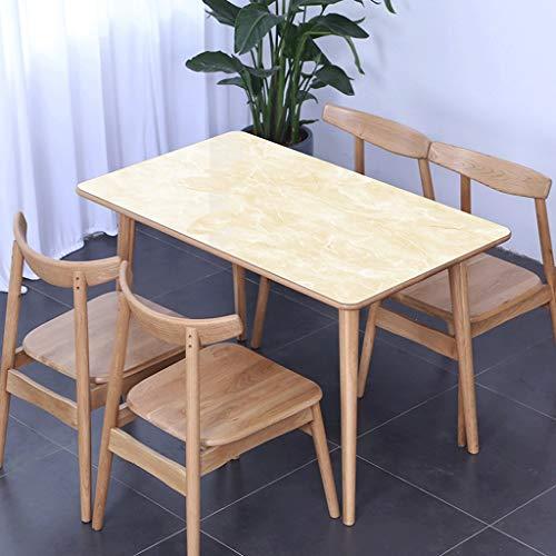 PVC Nappe,1,5mm Imperméable Anti-brûlure Plastique Verre Souple Set De Table Table De Thé Rectangle Étui De Protection Carré (Couleur : C, taille : 35.4 * 47.2in(90 * 120cm))