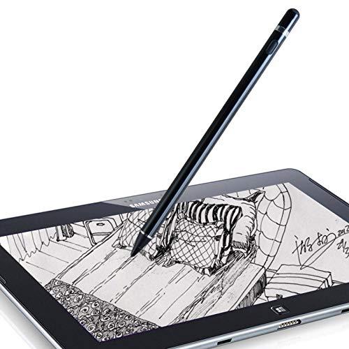 DOGAIN Lápiz capacitivo activo para Android, iOS, iPad/iPad 2/iPad 3/iPad4/iPad Pro/iPad Mini/iPad Mini 2/3/4 y la mayoría de tabletas, bolígrafo digital recargable de punta fina de 1,5 mm (negro)
