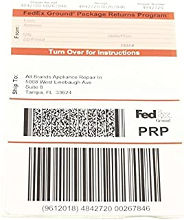 Delonghi PRP-TAMPA 退货服务标签