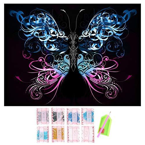 TOOGOO Broderie De Diamant 5D Papillon Colore Point De Croix Peinture De Diamant DIY Strass De Diamants Complet Cadeau De Decoration De La Maison Style 2