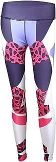 Jinqiuyuan Sexy Leopard Print Yoga Pants Women Sport Leggings High Waist Workout Gym Leggings Leggins Sport Women Fitness (Color : Red, Size : M)