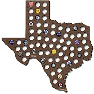 Valentine Herty Designed Texas Beer Cap Map TX Christmas Gifts for Grandpa 16.54 x 20.87