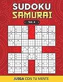 Juega con tu mente: SUDOKU SAMURAI Vol. 4: Colección de 100 diferentes SUDOKUS SAMURAI para Adultos y para Todos los que desean Poner a Prueba su Mente y Aumentar la Memoria de Forma Entretenida