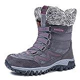 XLH Botas De Nieve para Mujer Agarre Resistente, Parte Superior Textil, Térmica, Alta Tracción, Ideal para Caminar En Temperaturas Frías De Invierno