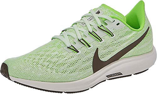 Nike Men's Air Zoom Pegasus 36 Track & Field Shoes, Multicolour (Phantom/Ridgerock/Electric Green 3), 12 UK