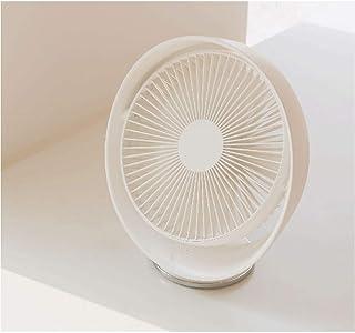 CJW Motor sin escobillas Ventilador de luz Ventilador de sobremesa Giratorio Ventilador de plástico USB