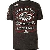 Affliction Men's Graphic T-Shirt, American Customs Moonshine, Short Sleeve Crew Neck Shirt