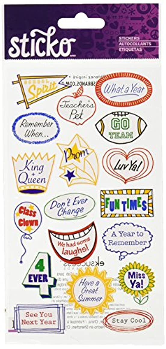 Sticko Yearbook Caption Stickers