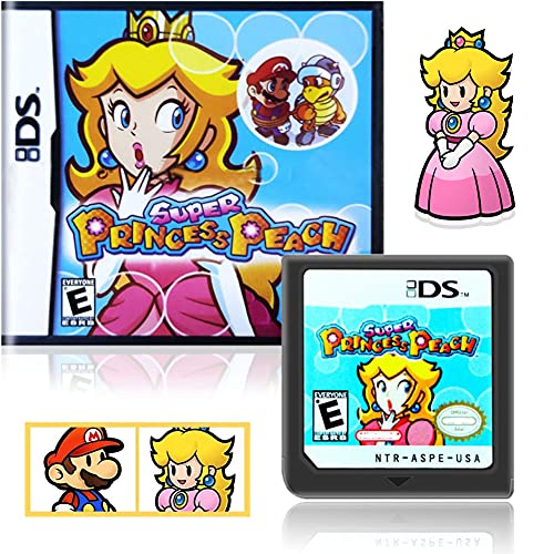 Super Princess Peach Game Card, Classic Card Game Toy, Clear Picture, Smooth Running, Suitable for Nintendo DS NDS 2DS 3DS NDSI DSI.