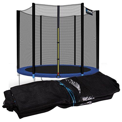 Kinetic Sports Sicherheitsnetz Trampolin Zubehör Ersatznetz für Gartentrampolin Ø ca. 183cm - Trampolin Zubehör - Trampolinnetz schwarz - UV-getestet - reißfest - Sprung-Schutz Jumper