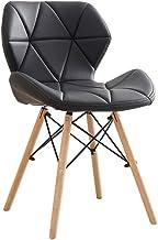 Modern Minimalist Dining Chair PU Leather Open Ergonomic Design backrest, Non-armrest Living Room Kitchen Porch Balcony