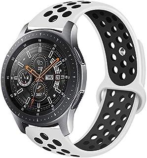 أوستيك / حزام بديل سيليكون قابل للتهوية مع دبوس سريع الفك لساعة Gear S3 / Galaxy / GT2 / - أبيض / أسود