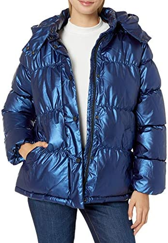 Details about  /URBAN REPUBLIC womens Juniors Patent Leather Puffer Jacket