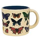 Mug papillon changeant à la chaleur – Révèle 18 espèces avec noms communs et latin sur le fond – Livré dans une boîte cadeau amusante