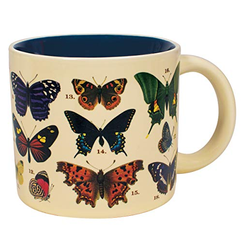 Heat Changing Butterfly Mug - Reveals 18 Species With Common and Latin Names on Bottom - Comes in a...