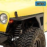 EAG Front Fender Flare Rocker Guard Tubular with Eagle Light Fit for 97-06 Wrangler TJ