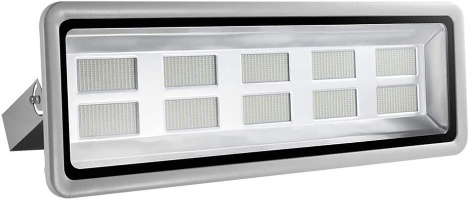 Missbee Super Bright 500W LED Flood Light, 55000lm Outdoor Landscape Flood Light, Security Light , 2800-3000K, Work for Garage, Garden, Lawn,Yard and Playground (Warm White)