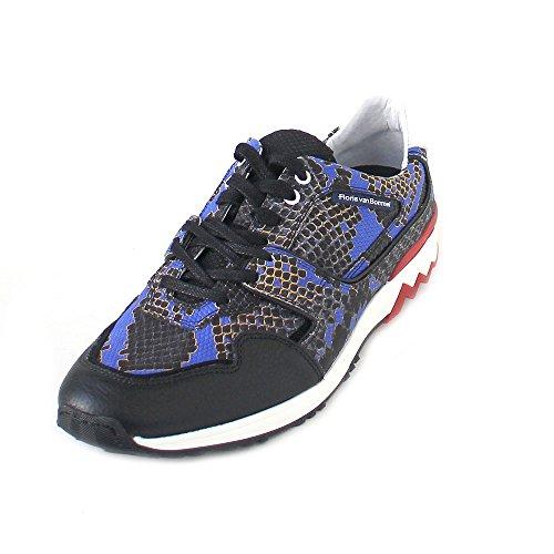 Floris van Bommel Herren Sneaker Blue Snake Combi 16270/01 blau 426783