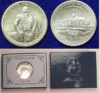 1982 D George Washington Commemorative 90% Silver Dollar Uncirculated Condition