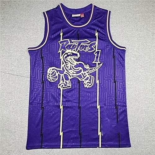jiaju Ropa NBA Jersey No. 24 Kobe No. 23 James No. 1 McGrady No. 15 Carter Baloncesto Jersey (Color: Púrpura 1, Tamaño: Medio) (Color : Purple 1, Size : L)