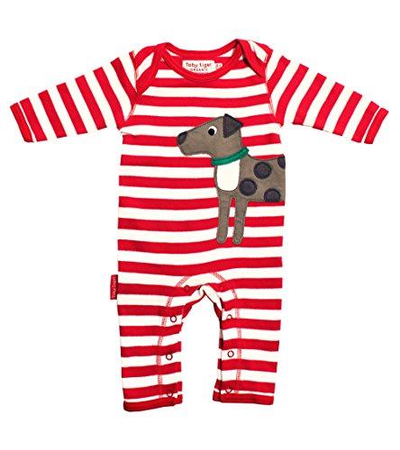 Toby Tiger - Combinaison - Manches Longues - Bébé (fille), Rouge - Rouge, 6-12 mois