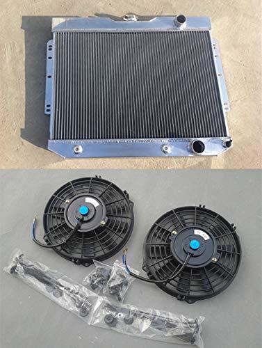 Radiador de aluminio y ventiladores 59 60 1961 1962 Chevy Impala/Bel Air/Biscayne 60-65
