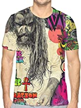 Rob Zombie The Electric Warlock Acid Witch T Shirt Mens Tops Short Sleeved Crewneck T-Shirt White