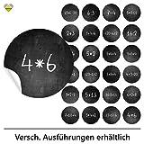 cute-head 24 Adventskalender-Zahlen (Aufkleber Etiketten Sticker) | Kreidetafel (simuliert) |...