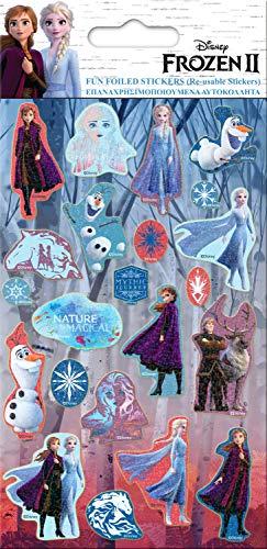 Paper Projects 9123700 Frozen 2 - Pegatinas reutilizables (19,5 x 10 cm), diseño de Frozen 2